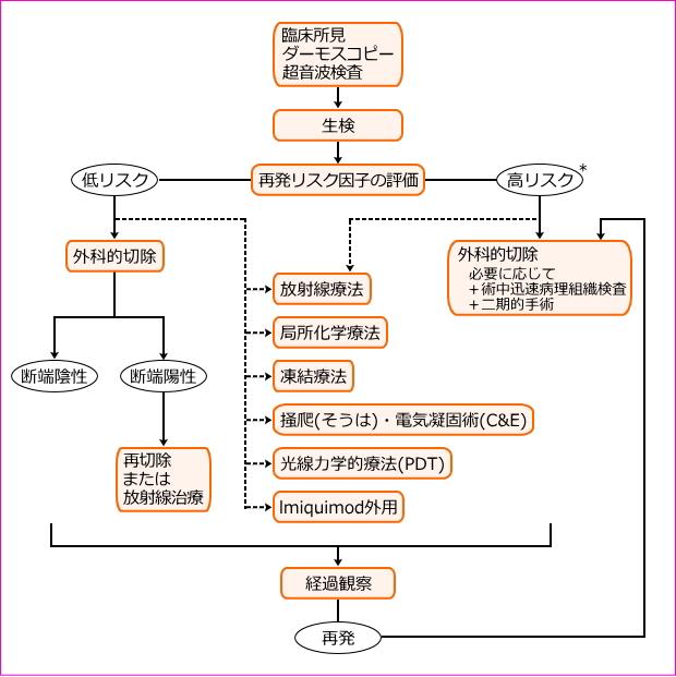 基底細胞癌の診療アルゴリズム
