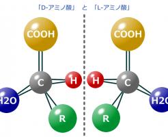 D-アミノ酸とL-アミノ酸